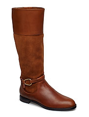 Harlee Leather Boot - DEEPSADDLETAN/WHI