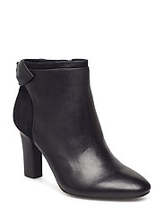 Breanne Leather Bootie - BLACK/BLACK