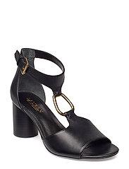 0bc24243a8f Elesia Leather Sandal - BLACK. 30%. Lauren Ralph Lauren