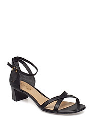 Folly Leather Sandal - BLACK