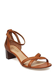 4ea6834cc403 Folly Leather Sandal - DEEP SADDLE TAN