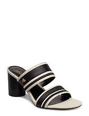 Elmarie Cotton-Linen Sandal - NATURAL/BLACK/BLA
