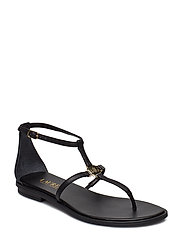 Nalaine Leather Sandal - BLACK