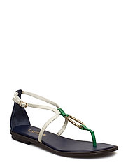 Nanine Leather Sandal - DKMIDNIGHT/VANILL
