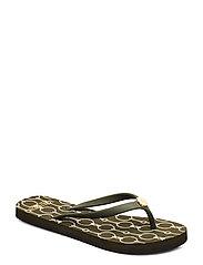 Shawna Chain-Link Sandal - DEEP OLIVE