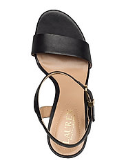 Lauren Ralph Lauren - Gwen Leather Sandal - sandales à talons - black - 3