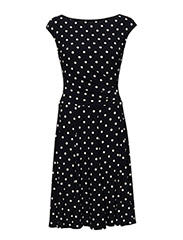 Polka-Dot Stretch Jersey Dress - LIGHTHOUSE NAVY
