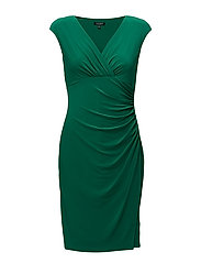 Jersey Cap-Sleeve Dress - JARDIN GREEN