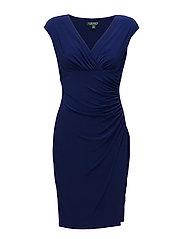 Jersey Cap-Sleeve Dress - RCH SAPPHIRE