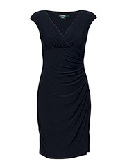 Jersey Cap-Sleeve Dress - LIGHTHOUSE NAVY
