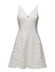 DENISELY - SLEEVELESS DRESS - WHITE