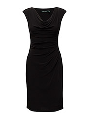VALLI - CAP SLEEVE DRESS - BLACK