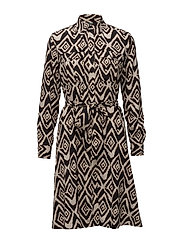 Fit-and-Flare Shirtdress - MULTI