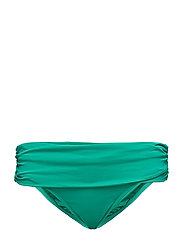 Ruched-Waistband Hipster - EMERALD
