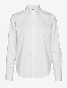 Cotton Oxford Shirt - krekli ar garām piedurknēm - white