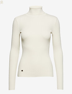 STRETCH COTTON MODL-L/S TURTLE NECK - pologenser - mascarpone cream