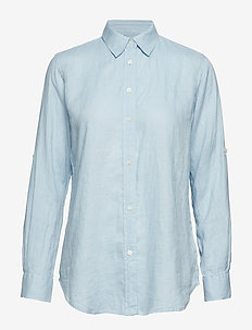 Linen Button-Down Shirt - ENGLISH BLUE