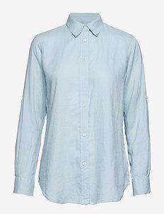 Linen Button-Down Shirt - ENGLISH BLUE