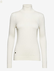 Ribbed Silk-Blend Turtleneck - MASCARPONE CREAM