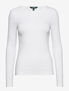 Stretch Long-Sleeve T-Shirt - WHITE