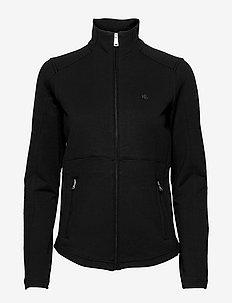 Stretch Cotton Full-Zip Jacket - fleece jassen - polo black