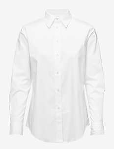 Embroidered Button-Down Shirt - WHITE