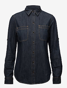 Denim Button-Down Shirt - SAPPHIRE WASH