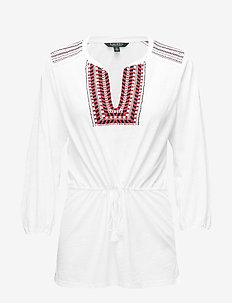 Bohemian Embroidered Blouse - SOFT WHITE
