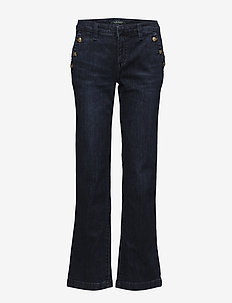 Button-Trim Straight-Leg Jean - ADMIRAL INDIGO WA