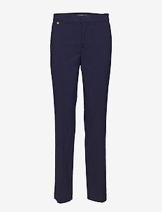 Wool-Blend Straight-Leg Pant - NAVY