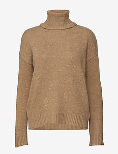 Wool-Blend Turtleneck Sweater - CLASSIC CAMEL/MUL