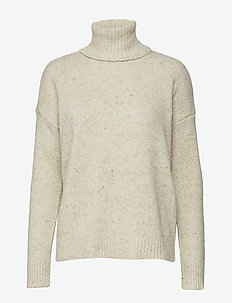 Wool-Blend Turtleneck Sweater - MASCARPONE CREAM