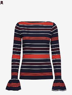 Striped Bell-Cuff Top - MULTI
