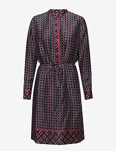 Print Twill Shirtdress - MULTI
