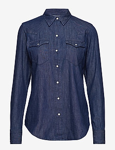 Indigo Chambray Western Shirt - RENEGADE BLUE WAS