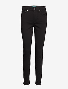 PCDYE WASHED SATEEN-PANT - POLO BLACK