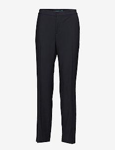 Tuxedo-Stripe Twill Pant - POLO BLACK