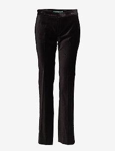 Velvet Straight Pant - POLO BLACK