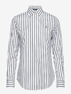 Striped Button-Down Shirt - WHITE/POLO BLACK