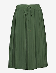 POLY CDC-PLEATED SKIRT - BASIL GREEN