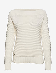 Cotton Boatneck Sweater - MASCARPONE CREAM