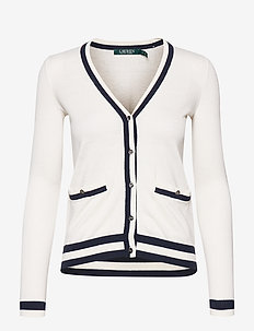Cotton-Blend V-Neck Cardigan - MASCARPONE CREAM/