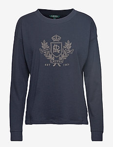 Logo French Terry Sweatshirt - LAUREN NAVY