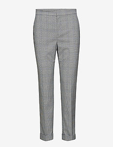 Glen Plaid Stretch Pant - BLACK/CREAM MULTI