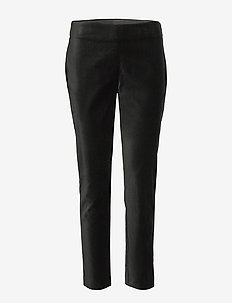 Stretch Velvet Skinny Pant - POLO BLACK