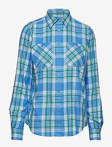 Plaid Cotton-Twill Shirt - long-sleeved shirts - eos blue multi