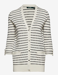 Striped Cotton-Blend Cardigan - MASCARPONE CREAM/