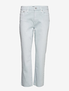 Premier Straight Ankle Jean - ENGLISH BLUE WASH