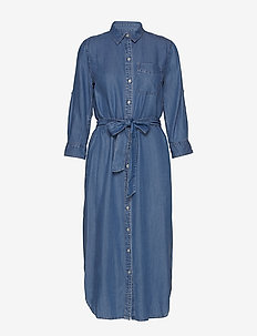 Denim Shirtdress - FAIR WINDS WASH