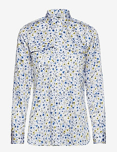 Print Cotton-Sateen Shirt - SILK WHITE MULTI